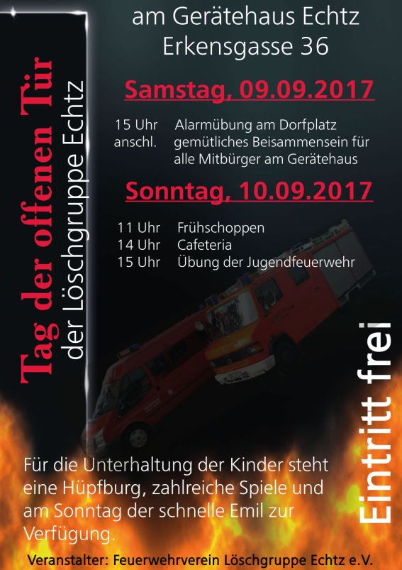 Plakat Tag der offenen Tür 2017